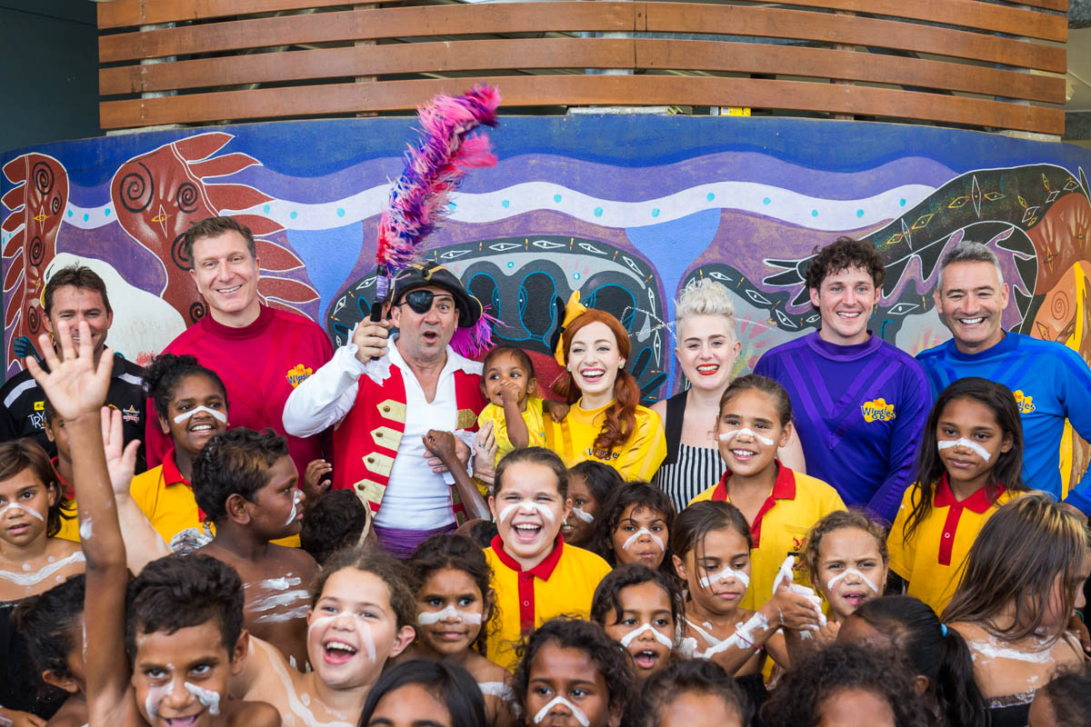 The Wiggles visit Yarrabah State School